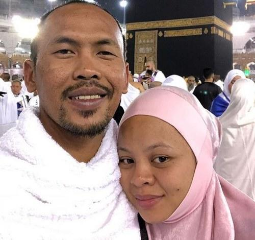 The late singer's husband makes a plea to the public to be respectful