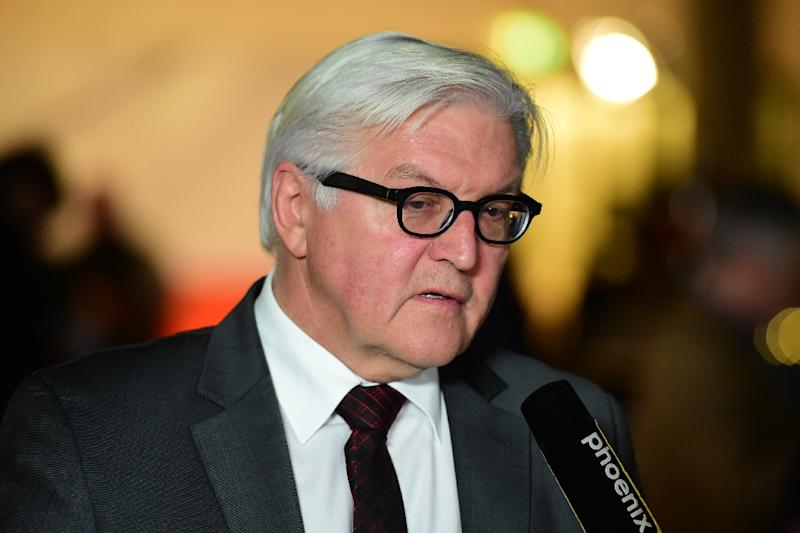 """German Foreign Minister Frank-Walter Steinmeier, pictured on November 10, 2015, said Vienna talks on Syria are a first """"serious attempt to break the spiral of increasing violence and chaos"""""""