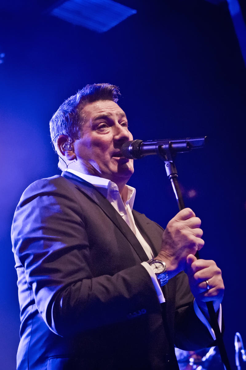 BERLIN, GERMANY - NOVEMBER 08: British singer Tony Hadley performs live on stage during a concert at the Columbia Theater on November 8, 2019 in Berlin, Germany. (Photo by Frank Hoensch/Redferns)