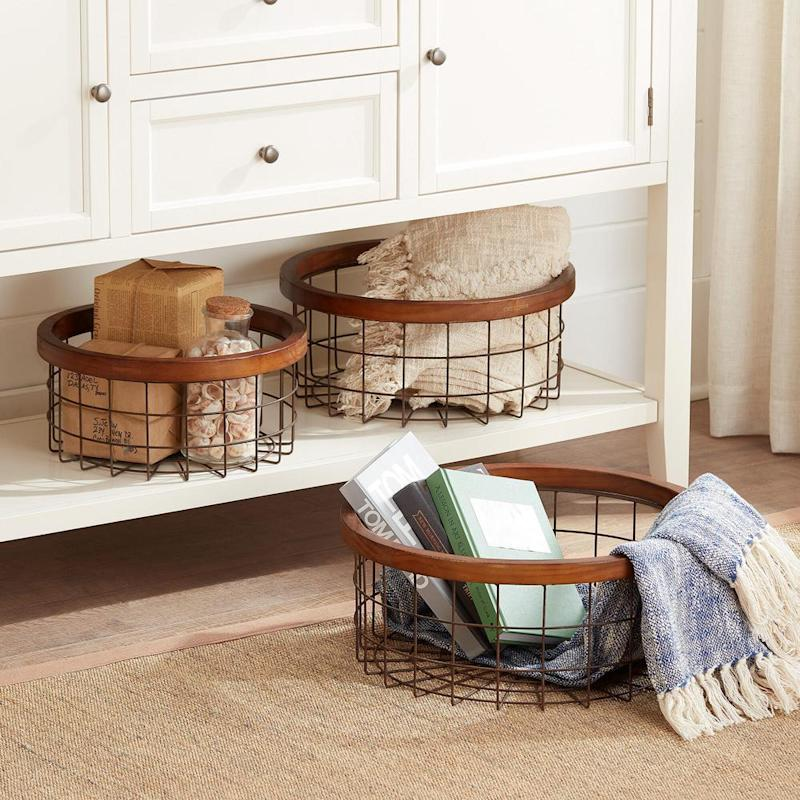Store throws, bath essentials and so much more. (Photo: Home Depot)