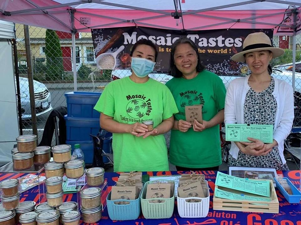 Mosaic Tastes is a spice business in Victoria, B.C., created by a group of immigrant women with support from Camosun College.  (Mosaic Tastes/Facebook - image credit)