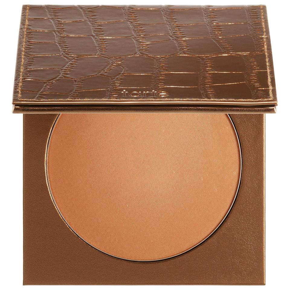 <p>The new <span>Tarte Park Ave Princess Waterproof Face and Body Bronzer</span> ($34) is like self-tanner in a radiant, pressed-powder format. It can bronze any parts of the body you'd like to highlight while also blurring imperfections with its partnering <span>Tarte Buff and Bronze Body Kabuki Brush</span> ($28).</p>