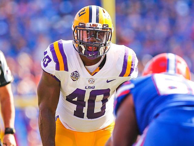 LSU linebacker Devin White.