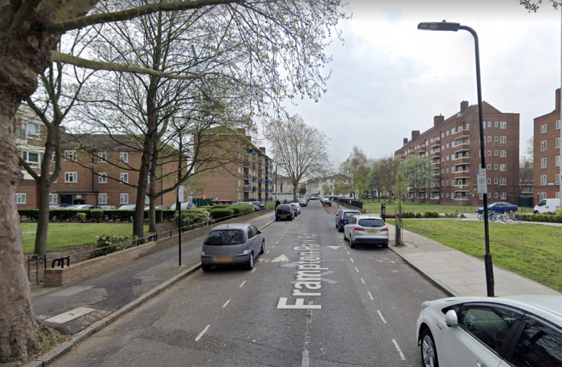The incident took place in Frampton Park Road, Hackney. (Google Maps)