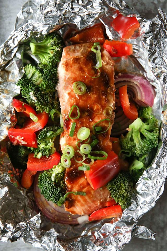 """<p>*no clean-up required.</p><p>Get the recipe from <a href=""""http://www.delish.com/cooking/recipe-ideas/recipes/a51594/salmon-foil-packs-recipe/"""" rel=""""nofollow noopener"""" target=""""_blank"""" data-ylk=""""slk:Delish"""" class=""""link rapid-noclick-resp"""">Delish</a>.</p>"""