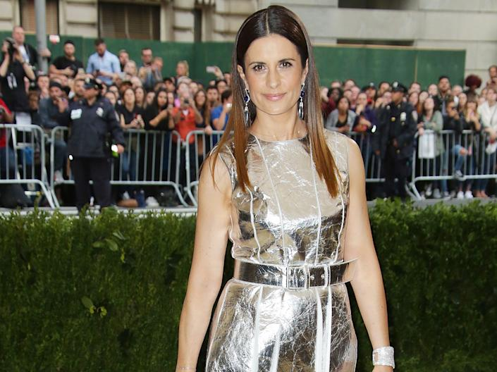 Ethical fashion campaigner Livia Firth attends the 2017 Met Gala: Photo by Matt Baron/REX