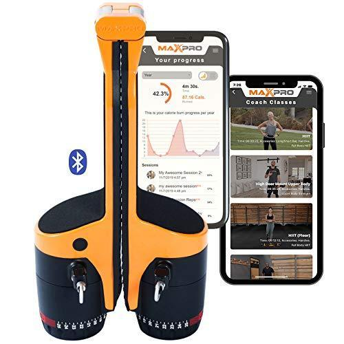 MAXPRO: Portable Smart Cable Home Gym Machine | All-in-One w/Bluetooth | Sport Orange