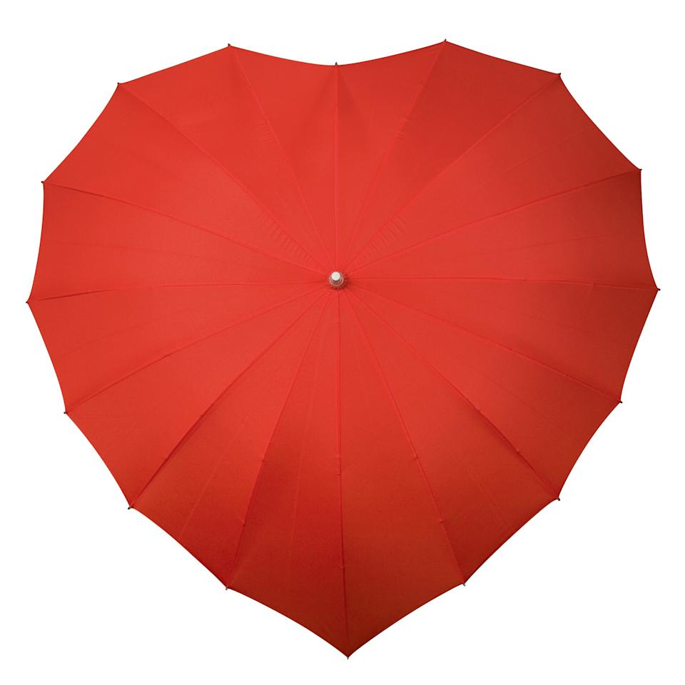eart-shaped Umbrella - £18.99 from www.firebox.com Walking down the street arm-in-arm, nothing could wipe the smile from your faces, or could it? Well, a downpour could certainly put a dampener on your date, so don't risk it. Put one of these on your gift list - it makes the perfect romantic hideaway.