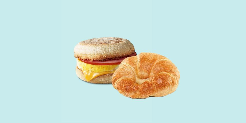 "<p>Breakfast may be the only time of day to find a redeeming, healthy and purely satisfying fast-food option... that isn't a <em>salad</em>. If you're away from your kitchen, or you've simply run out of time to make something at home, <a href=""https://www.goodhousekeeping.com/health/diet-nutrition/g20975587/healthy-starbucks-drinks/"" rel=""nofollow noopener"" target=""_blank"" data-ylk=""slk:finding a cup of coffee"" class=""link rapid-noclick-resp"">finding a cup of coffee</a> and a shockingly light breakfast isn't hard if you know where to look. Current <a href=""https://www.dietaryguidelines.gov/sites/default/files/2021-03/Dietary_Guidelines_for_Americans-2020-2025.pdf"" rel=""nofollow noopener"" target=""_blank"" data-ylk=""slk:federal health guidelines"" class=""link rapid-noclick-resp"">federal health guidelines</a> put an optimal breakfast as <a href=""https://www.goodhousekeeping.com/health/diet-nutrition/g27684033/what-to-eat-for-breakfast/"" rel=""nofollow noopener"" target=""_blank"" data-ylk=""slk:being somewhere in the 375-calorie range"" class=""link rapid-noclick-resp"">being somewhere in the 375-calorie range</a>, chock full of fiber, protein, and healthy saturated fats. </p><p>While <a href=""https://www.goodhousekeeping.com/health-products/g28246667/best-calorie-counting-apps/"" rel=""nofollow noopener"" target=""_blank"" data-ylk=""slk:calorie counting alone"" class=""link rapid-noclick-resp"">calorie counting alone</a> isn't always the way to determine a healthy breakfast, you may be surprised that some of the best fast food breakfast options are well within that range — and often provide <a href=""https://www.goodhousekeeping.com/health/diet-nutrition/advice/a24956/high-protein-diets-women/"" rel=""nofollow noopener"" target=""_blank"" data-ylk=""slk:a much-needed punch of protein"" class=""link rapid-noclick-resp"">a much-needed punch of protein</a> or <a href=""https://www.goodhousekeeping.com/health/diet-nutrition/g28556528/healthiest-vegetables/"" rel=""nofollow noopener"" target=""_blank"" data-ylk=""slk:a fiber infusion"" class=""link rapid-noclick-resp"">a fiber infusion</a> first thing in the A.M. But even those with the best intentions may find themselves in a spot where there are not many choices for a hot breakfast, which is <em>okay</em>!</p><p><strong><a href=""https://www.goodhousekeeping.com/author/224673/stefani-sassos/"" rel=""nofollow noopener"" target=""_blank"" data-ylk=""slk:Stefani Sassos, MS, RD, CDN"" class=""link rapid-noclick-resp"">Stefani Sassos, MS, RD, CDN</a></strong>, the <strong><a href=""https://www.goodhousekeeping.com/health/a40988/the-good-house-keeping-food-nutrition-brand-lab/"" rel=""nofollow noopener"" target=""_blank"" data-ylk=""slk:Good Housekeeping Institute Nutrition Lab"" class=""link rapid-noclick-resp"">Good Housekeeping Institute Nutrition Lab</a>'s registered dietitian</strong>, knows the value of making the most of any breakfast you can get your hands on. Sassos says that making your own breakfast at home is always best, as you control all the ingredients and preparation method. But with a long day ahead of you — whether it's work or travel or a looming workout — convenience matters and it's super important to take a moment to eat in the A.M. By choosing breakfast items that contain a balance of protein and fiber, this will help you <a href=""https://www.goodhousekeeping.com/weight-loss/"" rel=""nofollow noopener"" target=""_blank"" data-ylk=""slk:feel satisfied and fuller for longer"" class=""link rapid-noclick-resp"">feel satisfied and fuller for longer</a>. </p><p>Given that many breakfast menus have changed in the wake of the COVID-19 pandemic, some of your favorites may have modified or disappeared altogether, either temporarily or permanently. Finding a protein-rich, fiber-rich, <a href=""https://www.goodhousekeeping.com/health/diet-nutrition/g27684033/what-to-eat-for-breakfast/"" rel=""nofollow noopener"" target=""_blank"" data-ylk=""slk:or nutritionally amazing breakfast option"" class=""link rapid-noclick-resp"">or nutritionally <em>amazing</em> breakfast option</a> can seem tricky with such limited availability.</p><p>We've done the work for you, decoding menus and breakfast orders at 10 leading national fast-food chains around the country:</p><ul><li> <strong>Nutrition counts below are calculated for standard ""as is"" orders, per item</strong>. </li><li>Some of these items are more impressive than others, and if you have access to a multitude of chains, you should seek them out (<strong>we're marking them Editor's Choice!</strong>). </li></ul><p>But even if there are only <em>one</em> of these restaurants in your area, sourcing these fast-food breakfasts may help you avoid exorbitant calories, saturated fat, sodium or sugar that can be hiding away in other options available to you. When in doubt, refer to this list that's packed with nutritionist-approved ordering tips and tricks. Happy meal <em>indeed</em>!</p><p class=""body-tip""><em><strong>Item and menu availability may vary by region</strong>, and it's always best to check with the retailer directly about their breakfast hours — McDonald's, for example, has cut away from its All-Day Breakfast options <a href=""https://twitter.com/McDonalds/status/1354946972009050128"" rel=""nofollow noopener"" target=""_blank"" data-ylk=""slk:at most locations"" class=""link rapid-noclick-resp"">at most locations</a>. Some drive-thrus may also have an overlap between its breakfast offerings and its lunch or regular menu, and we're noting suggestions in the case that your location operates in this manner.</em></p>"