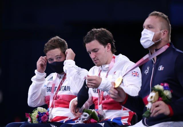 Alfie Hewett, left, and Gordon Reid, centre, suffered another painful Paralympic defeat