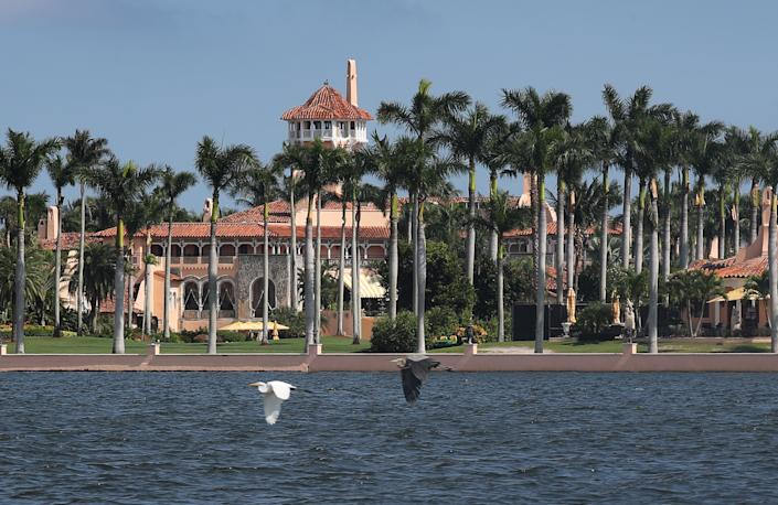Donald Trump's Mar-a-Lago resort is seen on 1 November, 2019 in Palm Beach, Florida (Getty Images)