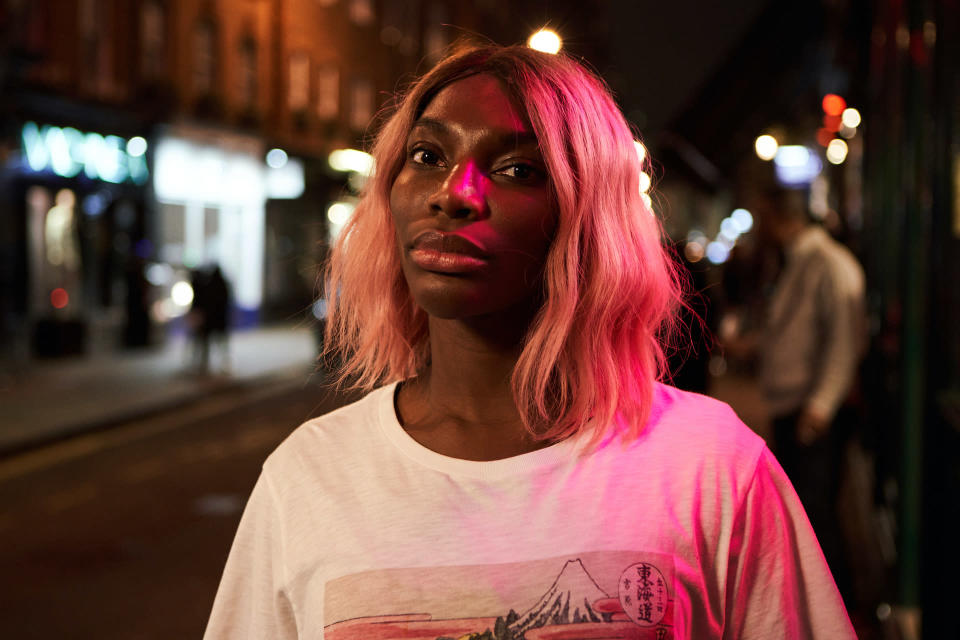 """This image released by HBO shows Michaela Coel in a scene from """"I May Destroy You."""" The program was nominated for an Emmy Award for outstanding limited series. (HBO via AP)"""