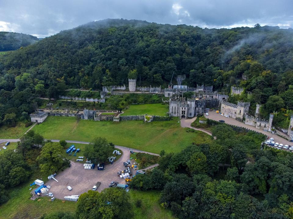Preparations have been going on at Gwrych Castle since the start of September. (Peter Byrne/PA/Getty)