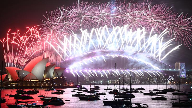 New Year's Eve fireworks, pictured here over Sydney's iconic Harbour Bridge and Opera House.