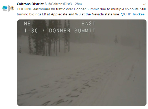 California Department of Transportation tweet on February 26, 2019.