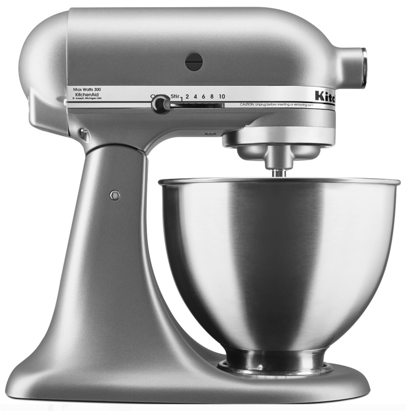 KitchenAid Deluxe 4.5 Quarts Silver Tilt-Head Stand Mixer. (Photo: Walmart)