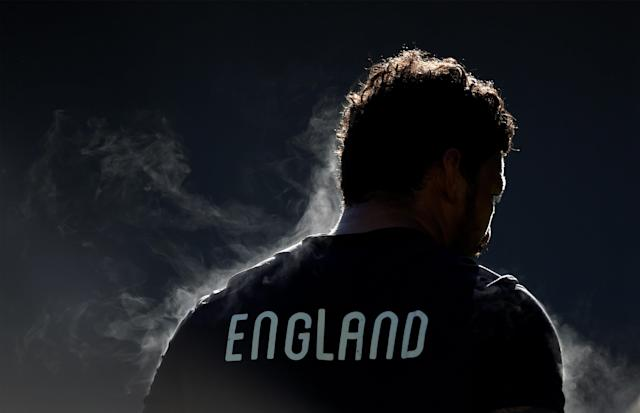 Rugby Union - England Training - Twickenham Stadium, London, Britain - February 16, 2018 England's Nathan Hughes during training Action Images via Reuters/Adam Holt