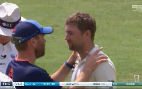Malan gets checked out - Credit: Sky