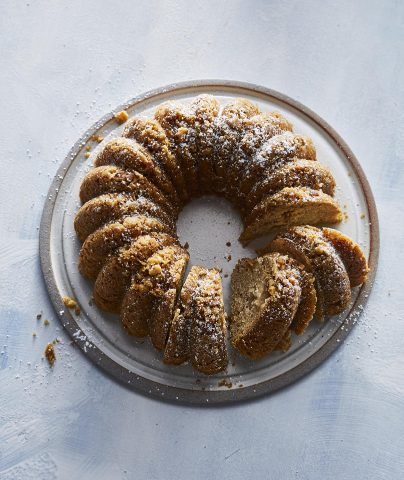 """<p>The only trick to this sweet and simple cake is finding the right Bundt pan for the job. It calls for an 8-cup pan, smaller than standard Bundts, which are typically closer to 10–12 cup capacity. The most important thing is that the cake pan fit inside your slow cooker, so if it slides in with a little breathing room, you should be all good. While apple is a great choice, this cake would be no less delicious with chopped pear or even a mixture of the two fall fruits. Dust the cake with powdered sugar for a pretty presentation or serve with a scoop of cinnamon ice cream.<br /> <br /> <strong>Get the recipe: </strong> <a rel=""""nofollow"""" href=""""https://www.realsimple.com/food-recipes/browse-all-recipes/slow-cooker-apple-spice-cake"""">Slow-Cooker Apple Spice Cake</a></p>"""