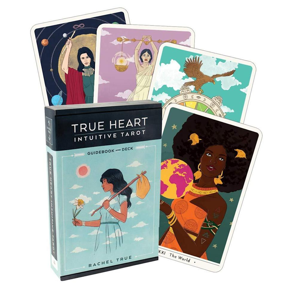 """<h2>True Heart Intuitive Tarot Guidebook and Deck</h2><br>""""I write a lot of <a href=""""https://www.refinery29.com/en-us/spirit"""" rel=""""nofollow noopener"""" target=""""_blank"""" data-ylk=""""slk:Refinery29's astrology and spirit content"""" class=""""link rapid-noclick-resp"""">Refinery29's astrology and spirit content</a>, but I'm no expert — so I'm always trying new things, and recently, I've been trying to get into tarot more. I've been using this guidebook and deck by actress and author Rachel True. I love the card's artwork as well as the insightful guidebook."""" <em>— EG</em><br><br><strong>Houghton Mifflin Harcourt</strong> True Heart Intuitive Tarot Guidebook and Deck, $, available at <a href=""""https://www.amazon.com/True-Heart-Intuitive-Tarot-Guidebook/dp/1328566269"""" rel=""""nofollow noopener"""" target=""""_blank"""" data-ylk=""""slk:Amazon"""" class=""""link rapid-noclick-resp"""">Amazon</a>"""