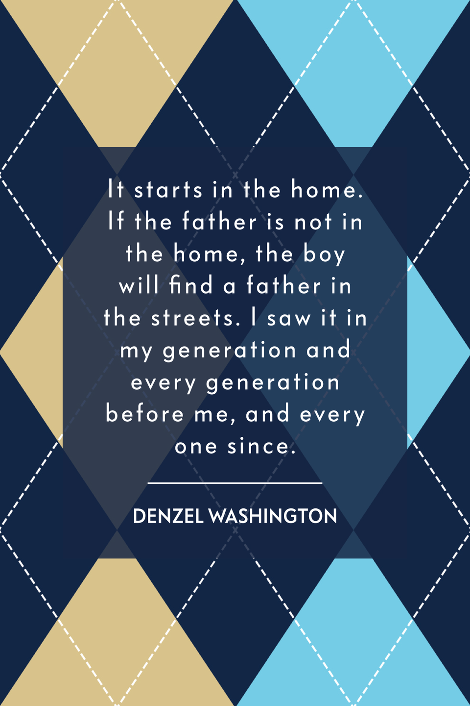 """<p>""""It starts in the home. If the father is not in the home, the boy will find a father in the streets. I saw it in my generation and every generation before me, and every one since,"""" the star of <em>The Equalizer 2</em> told <em><a href=""""https://thegrio.com/2017/11/21/denzel-washington-roman-j-israel/"""" rel=""""nofollow noopener"""" target=""""_blank"""" data-ylk=""""slk:theGrio"""" class=""""link rapid-noclick-resp"""">theGrio</a></em> in 2017.</p>"""