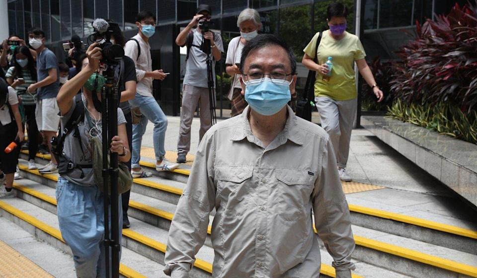 Cheung Man-kwok leaves the District Court in Wan Chai after his sentence was suspended on Wednesday. Photo: Edmond So