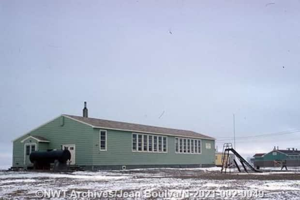The North was also home to several federally-operated day schools, such as this one in Cambridge Bay, Nunavut.