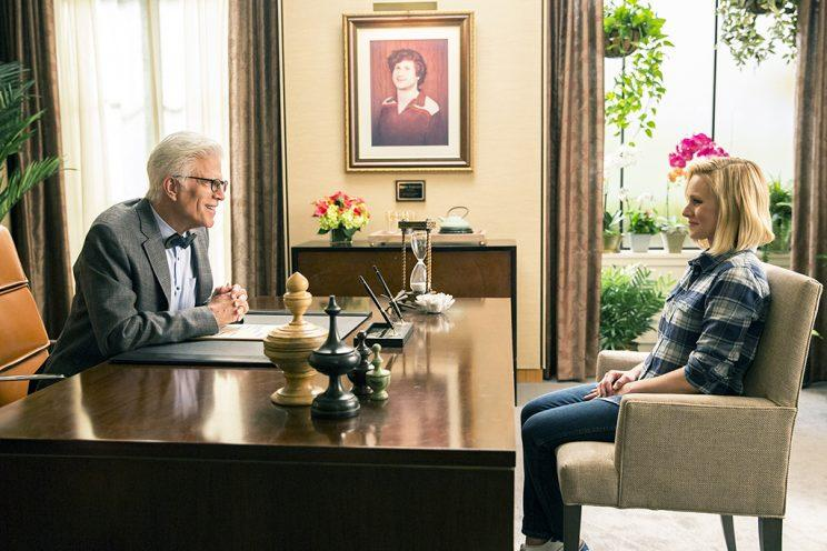 Ted Danson and Kristen Bell in 'The Good Place' (Credit: Justin Lubin/NBC)
