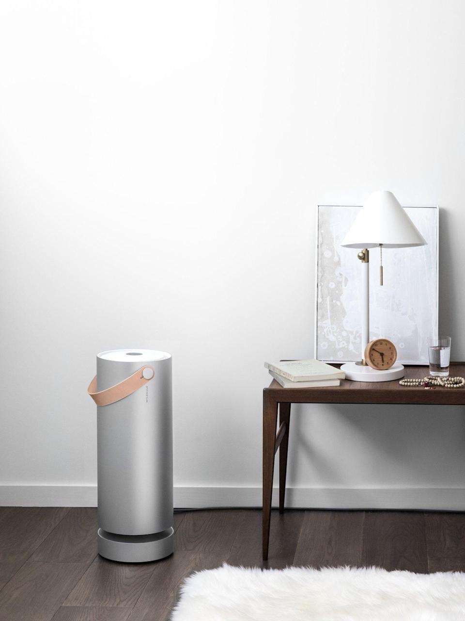 """<strong><h3>Molekule Air </h3></strong><br>Call this purifier the airborne toxin terminator — its sharp structure is easy on the eyes and its revolutionary nanotechnology epically, """"destroys pollutants at the molecular level.""""<br><br><em>Shop <a href=""""https://amzn.to/2NC5CDk"""" rel=""""nofollow noopener"""" target=""""_blank"""" data-ylk=""""slk:Molekule"""" class=""""link rapid-noclick-resp"""">Molekule</a></em><br><br><strong>Molekule</strong> Large Room Air Purifier, $, available at <a href=""""https://amzn.to/34d75Eq"""" rel=""""nofollow noopener"""" target=""""_blank"""" data-ylk=""""slk:Amazon"""" class=""""link rapid-noclick-resp"""">Amazon</a>"""