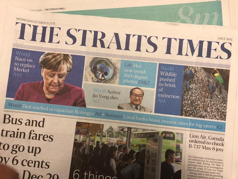 The newly formed Singapore Desk is headed by executive editor Sumiko Tan.