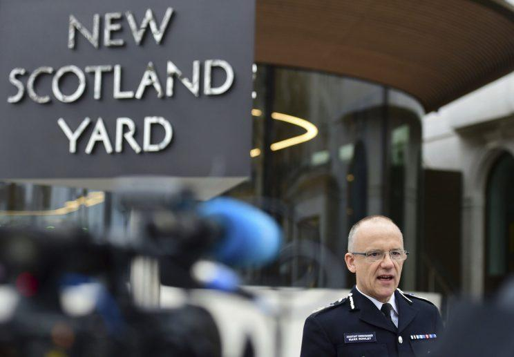 Metropolitan Police Assistant Commissioner Mark Rowley spoke about the Madeleine McCann investigation (AP)