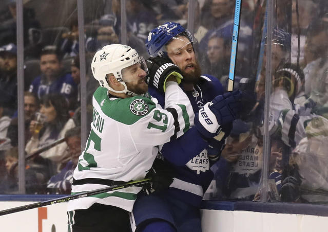 The Stars didn't give the Leafs much room to breathe on Thursday. (Richard Lautens/Toronto Star via Getty Images)