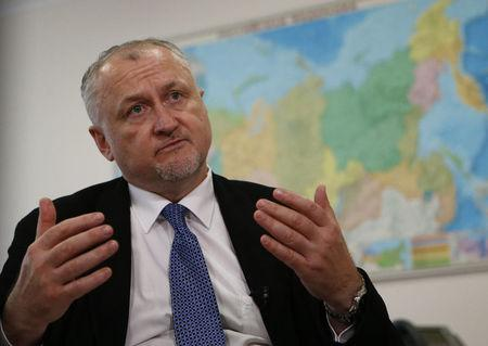 RUSADA Director General Ganus attends an interview with Reuters in Moscow