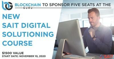 Win 1 of 5 scholarships to attend SAIT's new digital solutioning course (CNW Group/Blockchain Guru)