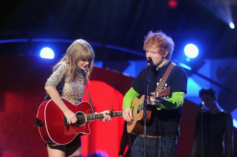 Musical buddies: Taylor Swift and Ed Sheeran toured together (Jamie McCarthy/Getty)