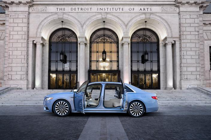 Lincoln Continental with coach doors.