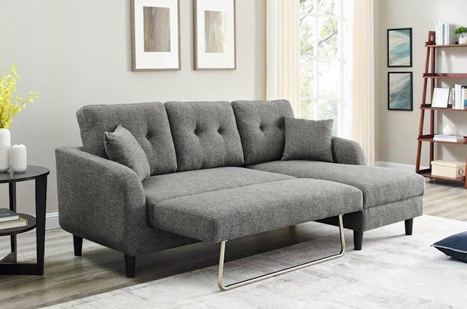 <p>The smart design of this <span>Flenderson Sofa Bed</span> ($510, originally $560) makes it great for guests.</p>
