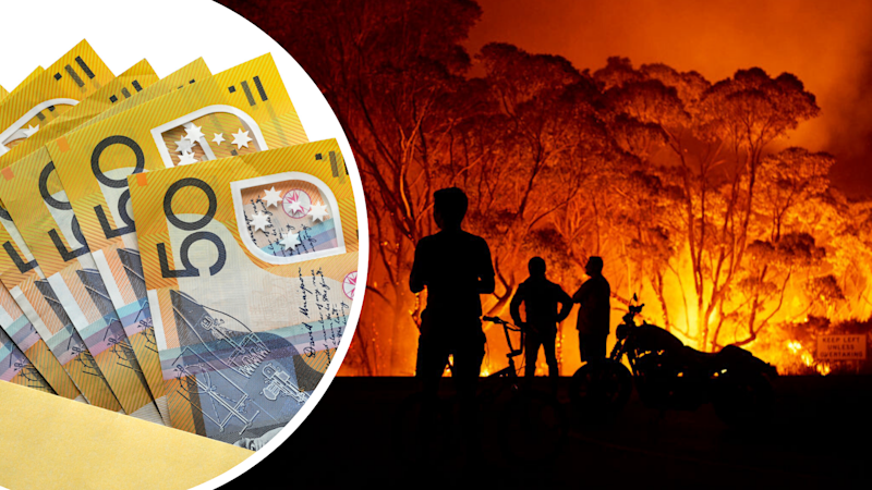 Pictured: Australian cash suggesting tax, NSW bushfires. Images: Getty