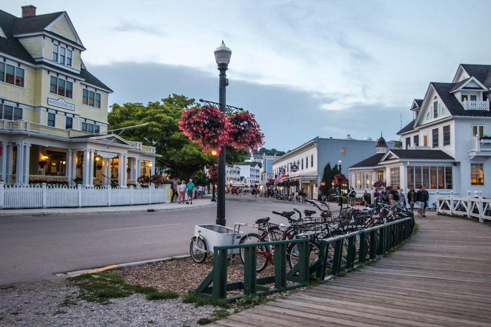 <p>Great Lakes destination Mackinaw City, Michigan is located at the tip of the state's southern peninsula on the Straits of Mackinac, connecting Lake Huron and Lake Michigan. </p>