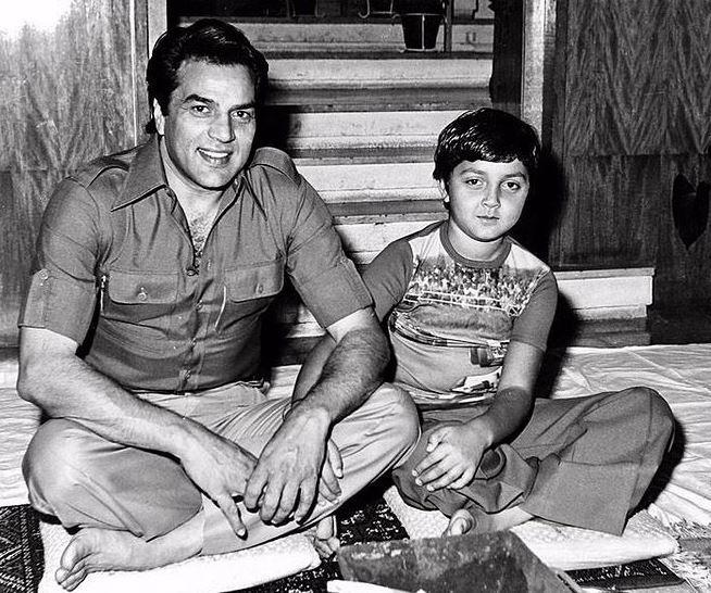 Bobby Deol with Dharmendra