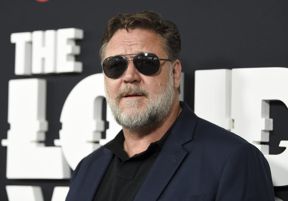 Actor Russell Crowe attends the premiere of the ShowTime limited series