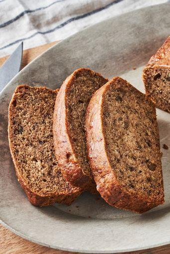 """<p>This vegan <a href=""""https://www.delish.com/uk/cooking/recipes/a28826174/best-banana-bread-recipe/"""" rel=""""nofollow noopener"""" target=""""_blank"""" data-ylk=""""slk:banana bread"""" class=""""link rapid-noclick-resp"""">banana bread</a> is big on banana flavour, super moist, and just sweet enough. If you're looking to add some substance, coconut flakes, toasted chopped nuts, and dried cherries are some of our favourite mix-ins.</p><p>Get the <a href=""""https://www.delish.com/uk/cooking/recipes/a34726239/vegan-banana-bread-recipe/"""" rel=""""nofollow noopener"""" target=""""_blank"""" data-ylk=""""slk:Vegan Banana Bread"""" class=""""link rapid-noclick-resp"""">Vegan Banana Bread</a> recipe.</p>"""
