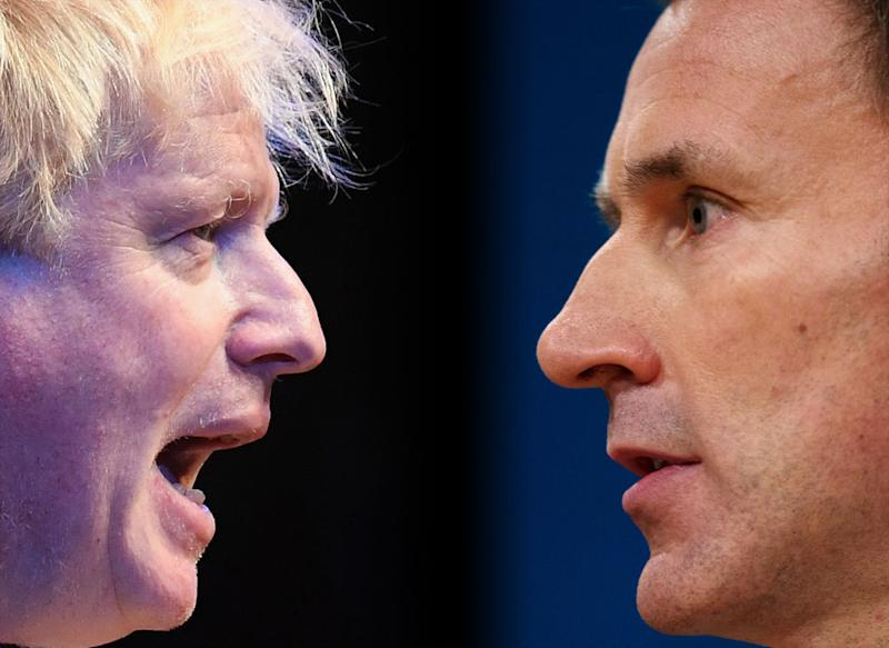 Jeremy Hunt has been criticised for telling Boris Johnson to 'man up' [Photo: Getty]