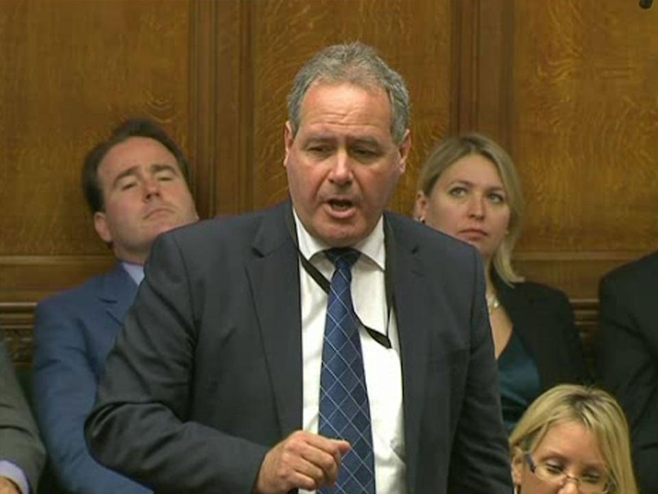 Bob Blackman asking Prime Minister David Cameron a question during Prime Minister's Questions in the House of Commons in 2011: PA