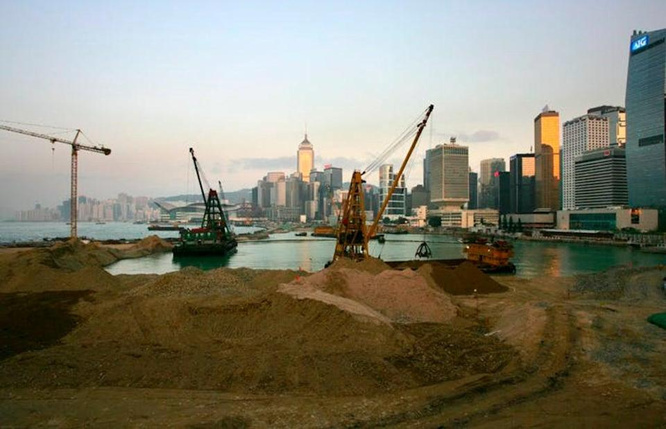 More land reclamation underway in Hong Kong's central business district in 2008 (Ym Yik/EPA)