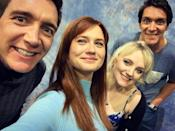 """<p>The Phelps twins aka the Weasley twins caught up with their on-screen sister Ginny (Bonnie Wright) and Luna Lovegood (Evanna Lynch) at Rhode Island Comic Con 2019.</p><p><a href=""""https://www.instagram.com/p/B4a4psulYmQ/"""" rel=""""nofollow noopener"""" target=""""_blank"""" data-ylk=""""slk:See the original post on Instagram"""" class=""""link rapid-noclick-resp"""">See the original post on Instagram</a></p>"""