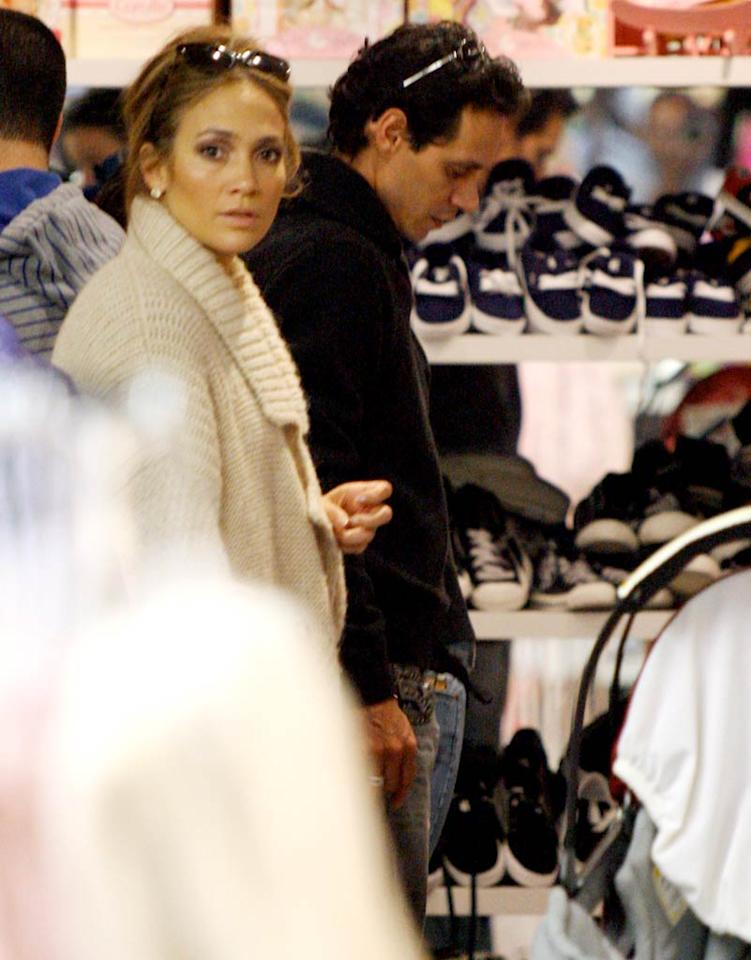 """""""American Idol"""" judge Jennifer Lopez and her hubby Marc Anthony were spotted hitting up the Kitson Kids boutique in Beverly Hills, presumably picking out presents for their 2-year-old twins Emme and Max. Polanko/<a href=""""http://www.x17online.com"""" target=""""new"""">X17 Online</a> - December 22, 2010"""