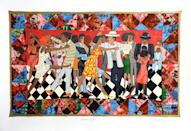 "<p><strong>Faith Ringgold</strong></p><p>1stdibs.com</p><p><strong>$5000.00</strong></p><p><a href=""https://go.redirectingat.com?id=74968X1596630&url=https%3A%2F%2Fwww.1stdibs.com%2Fart%2Fprints-works-on-paper%2Ffigurative-prints-works-on-paper%2Ffaith-ringgold-groovin-high%2Fid-a_6743342%2F&sref=https%3A%2F%2Fwww.elledecor.com%2Flife-culture%2Fg35492129%2F1stdibs-artnoir-black-history-month%2F"" rel=""nofollow noopener"" target=""_blank"" data-ylk=""slk:Shop Now"" class=""link rapid-noclick-resp"">Shop Now</a></p><p>""Faith Ringgold is a treasure, and I really love her exploration of black life in a celebration of joy and energy, with a range of color and age, and highlights of pattern."" – Larry Ossei-Mensah</p>"