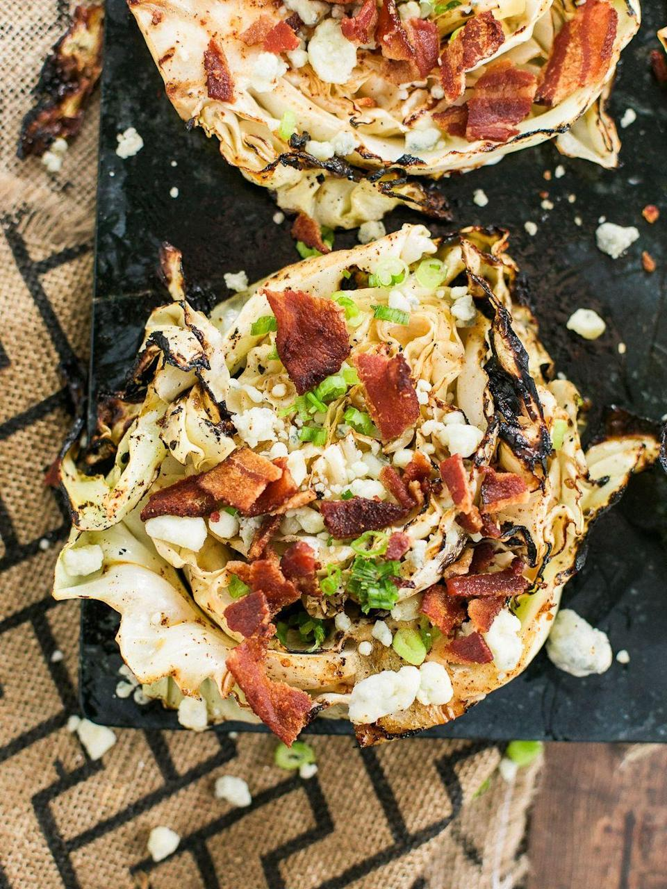 """<p>Even the carnivores will love this!</p><p>Get the recipe from <a href=""""https://www.delish.com/cooking/recipe-ideas/a27544267/grilled-cabbage-steaks-recipe/"""" rel=""""nofollow noopener"""" target=""""_blank"""" data-ylk=""""slk:Delish"""" class=""""link rapid-noclick-resp"""">Delish</a>.</p>"""