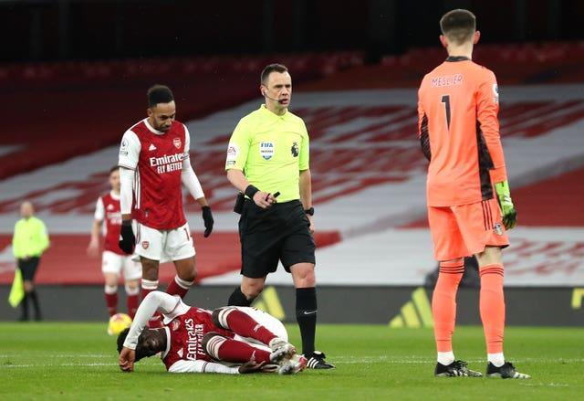 Referee Stuart Attwell awarded the 83rd penalty in this season's Premier League during Arsenal's win over Leeds